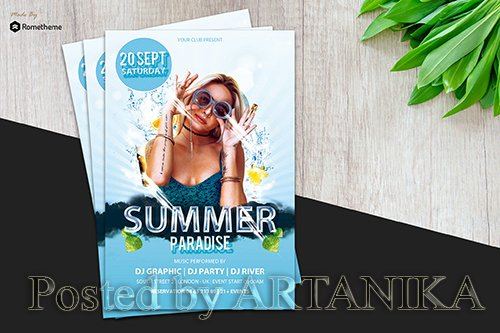Summer Paradise Flyer vol.1