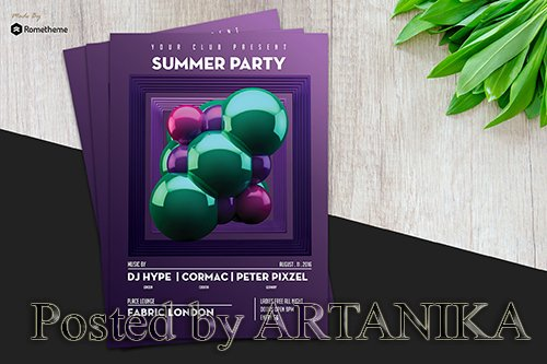 Minimal Summer Party Flyer vol.2