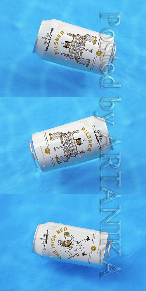 Can in Water Mockup