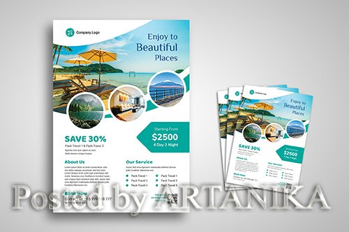 Travel and Vacation Promo Flyer