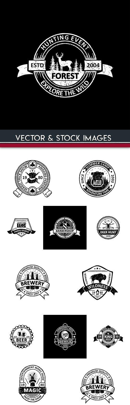 Vintage badges, labels, emblems and logo design