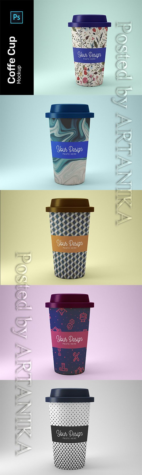 Coffe Cup Mockup PSD 3482333
