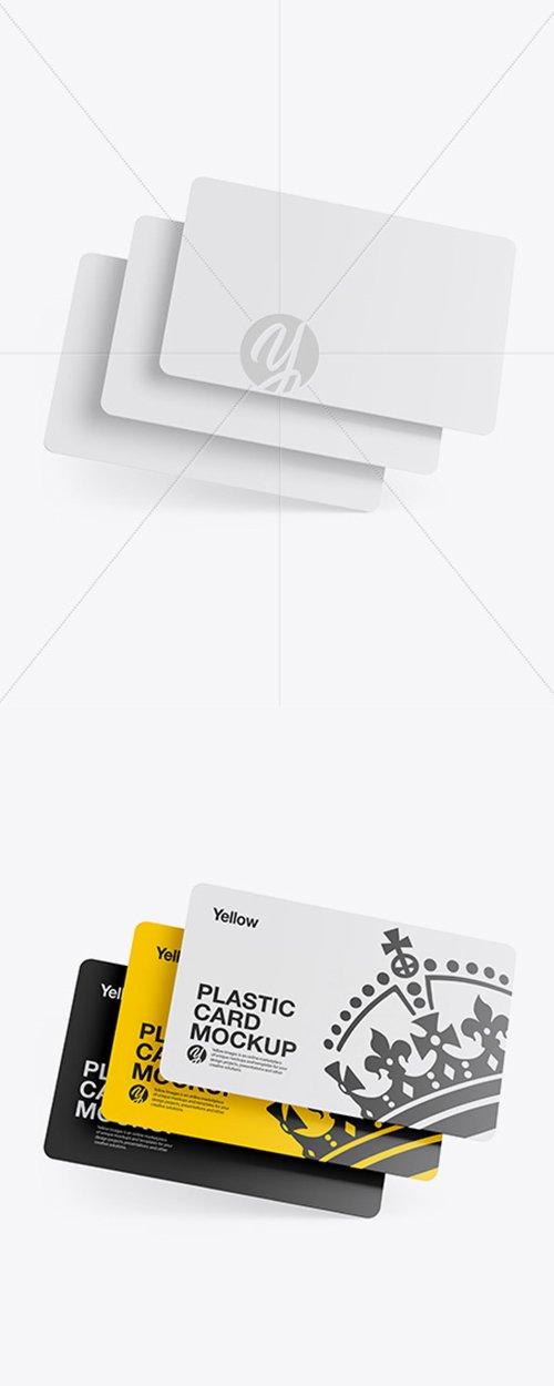 Three Plastic Cards Mockup 42866 TIF