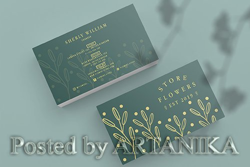 Flowers Store Business Card