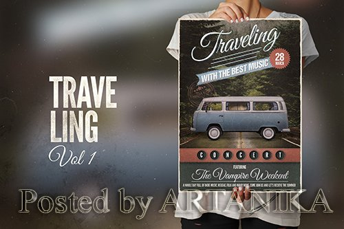 Traveling with the Music Flyer Poster