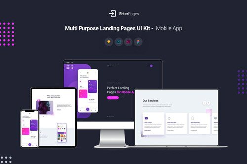 EnterPages - Multi Purpose Landing Pages UI Kit