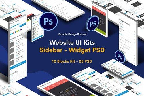 Website Widgets - Sidebar UI Kits