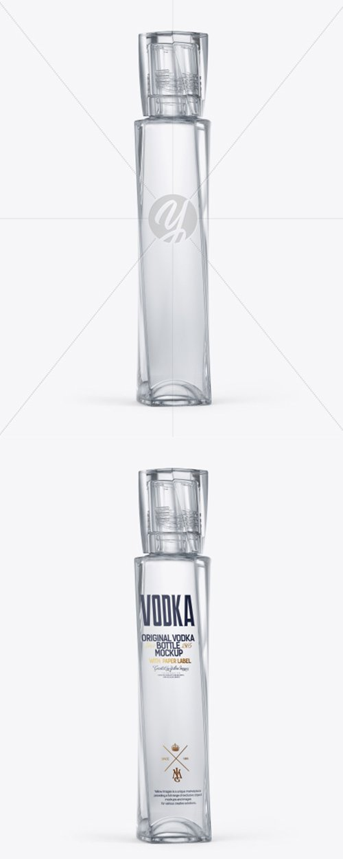Glass Vodka Bottle Mockup 41033 TIF