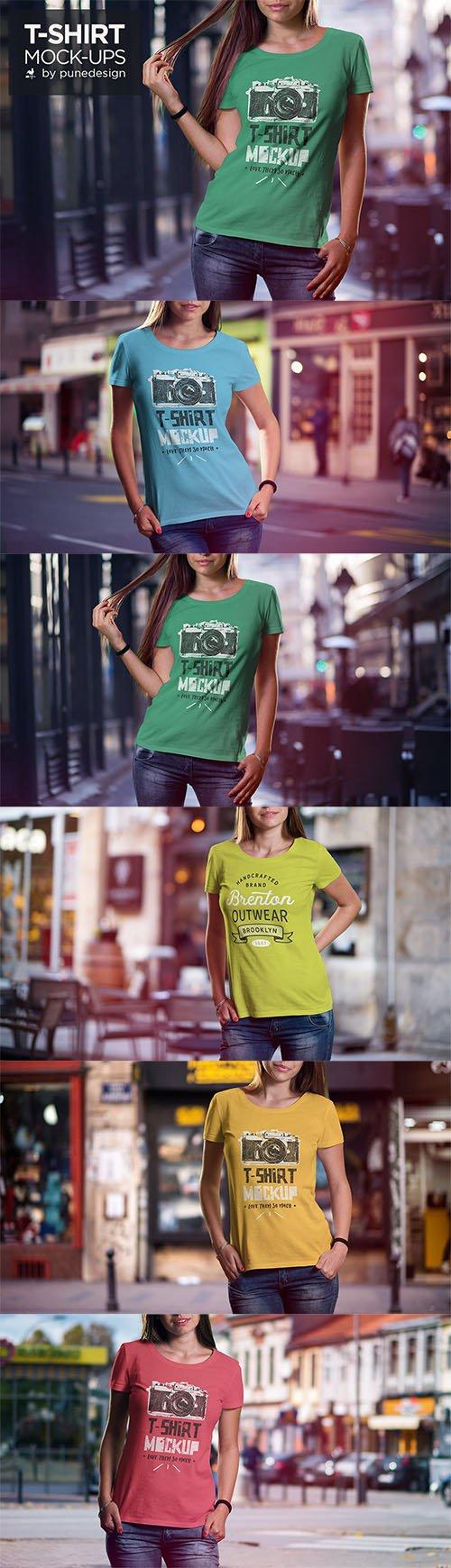 T-Shirt Mock-Up Set PSD