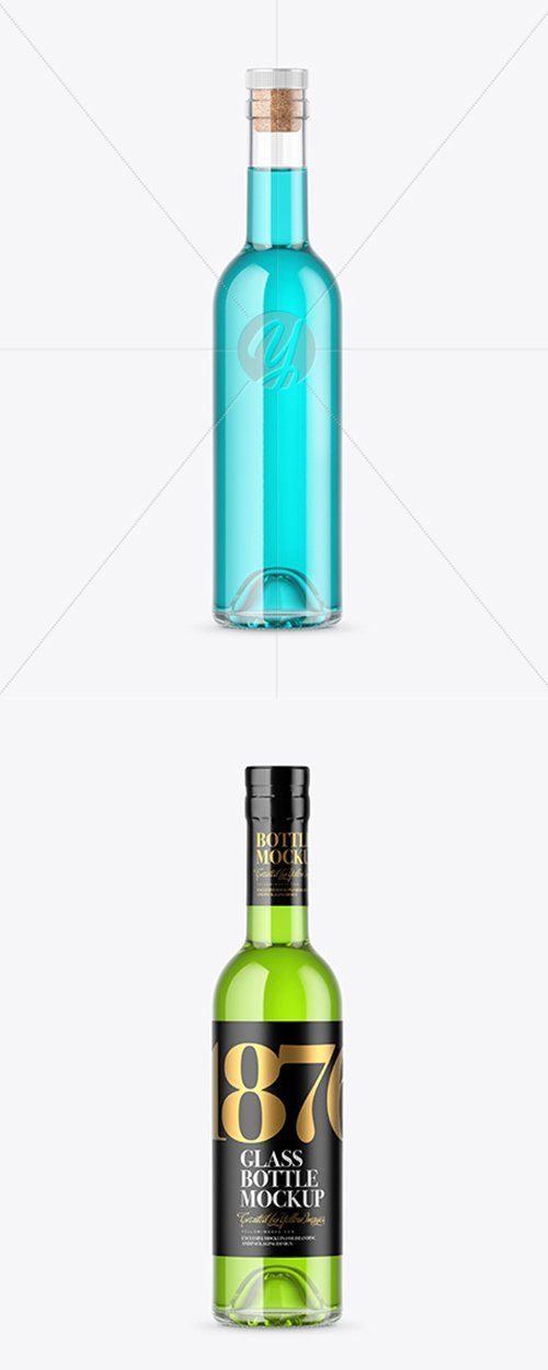 Clear Glass Bottle Mockup 42862 TIF