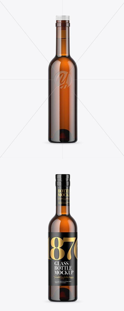Amber Glass Bottle Mockup 42790 TIF