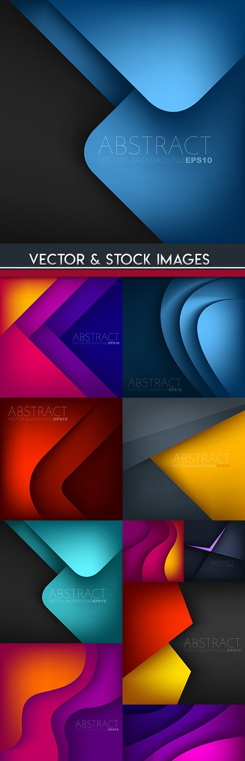 Bright modern background gradient and geometrical forms