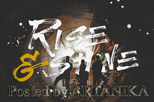 Rise and Shine Brush Font
