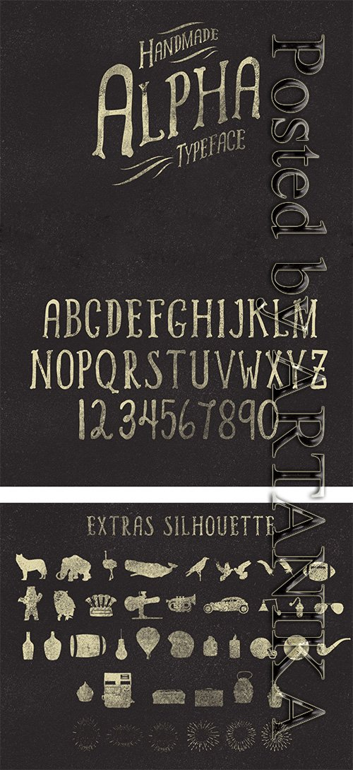 Alpha Rough and Extras Font