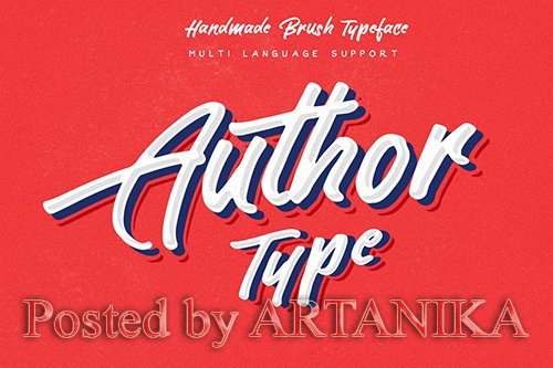 Author Brush Font