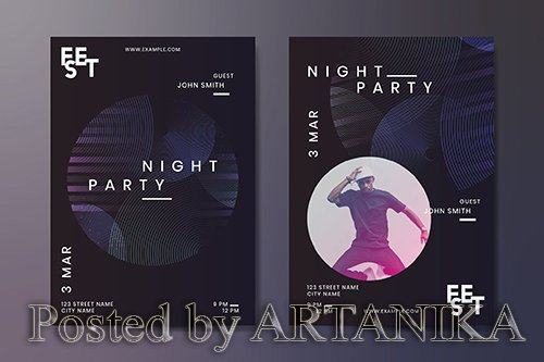 Night party poster design