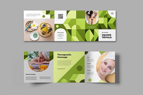 Square Trifold Spa Massage Brochure
