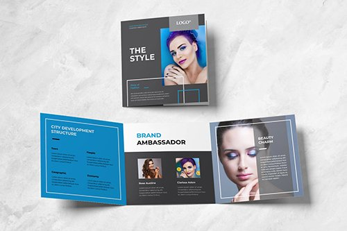 Beauty Fashion Square Trifold Brochure
