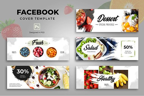 Facebook Food Cover Template PSD