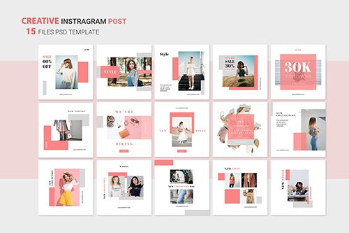 Instagram Shopping Posts PSD