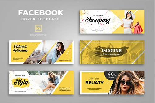 Facebook Beauty Shopping Cover Template PSD