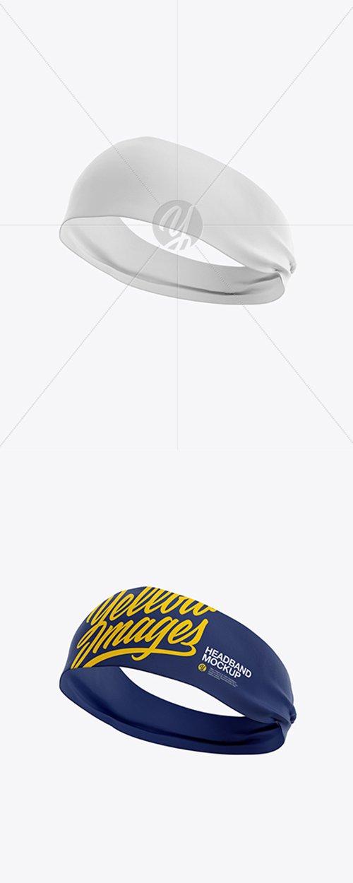 Headband Mockup - Half Side View 20223 TIF