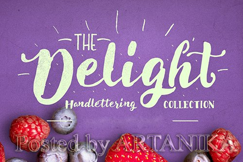 Delight Font Pack and Extra Font