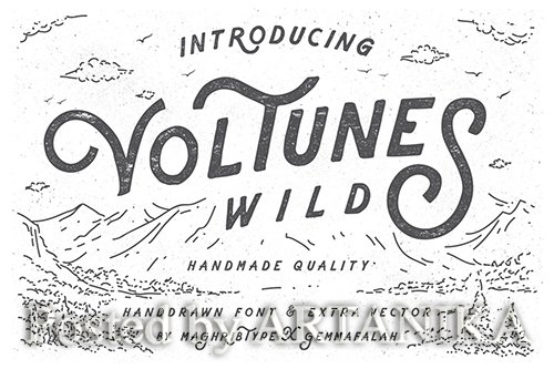 Voltunes Extra Photo and Vector Vintage Font