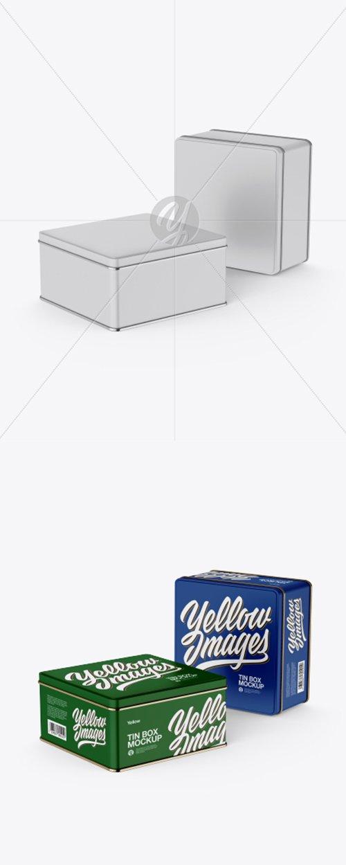 Two Matte Tin Boxes Mockup 31221 TIF