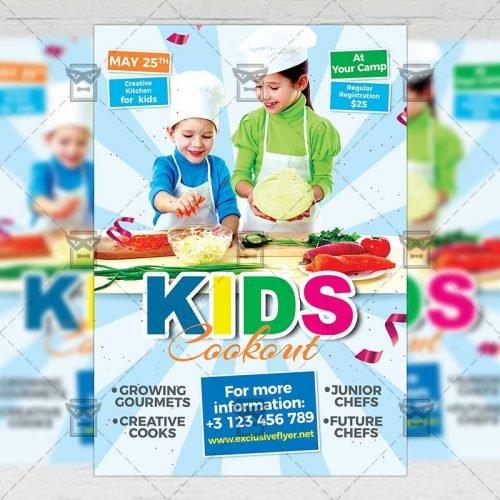 PSD Kids A5 Template - Kids Cookout Flyer