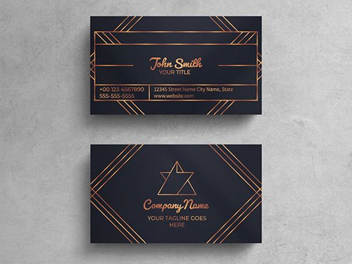 Vintage Luxury Business Card Layout 271451249 PSDT