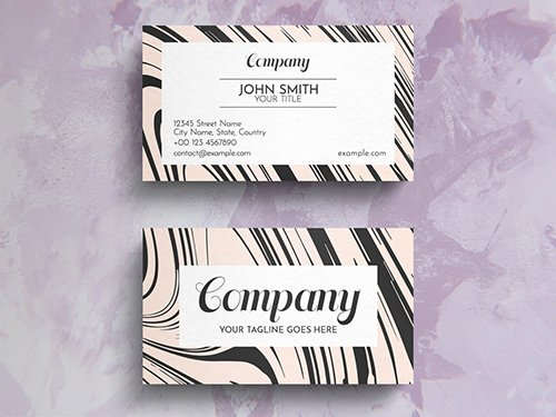 Elegant Pastel Business Card Layout 271451301 PSDT