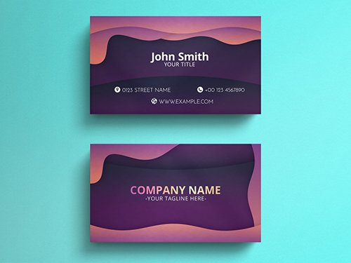 Black Marble Business Card Layout with Gold Lines 271451167 PSDT