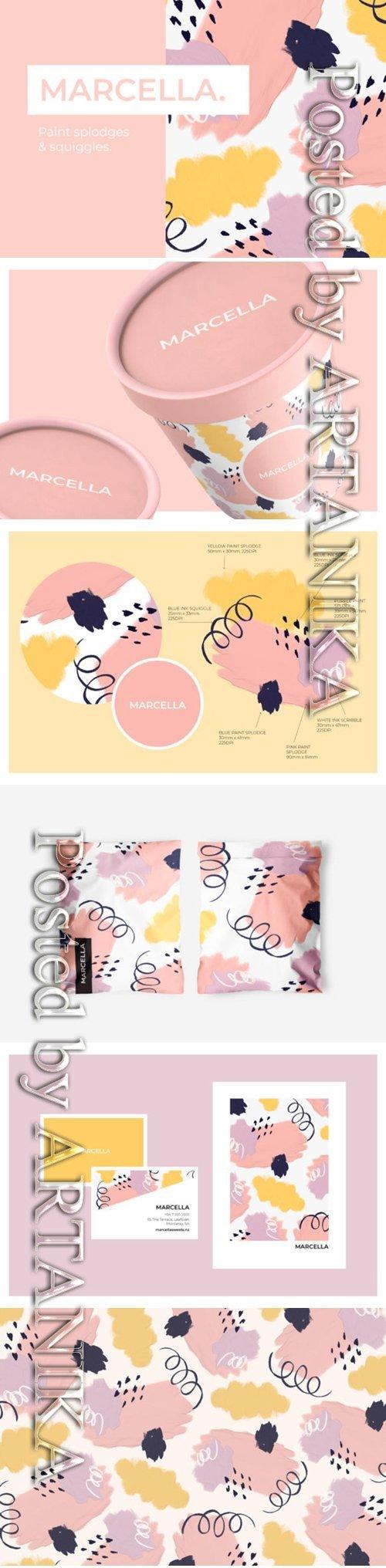 Pretty Pastel Paint Splodges 1505869