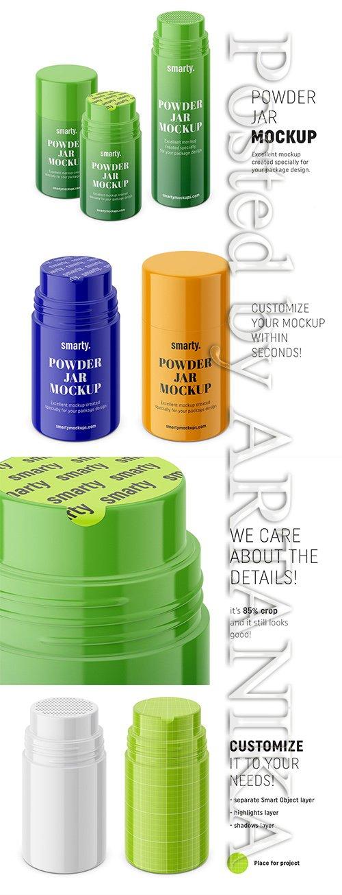 Powder Jar PSD Mockups 3446026