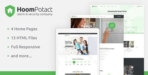 ThemeForest - HoomPotact v1.0 - Smart Alarm & Security Systems HTML Template - 23990859