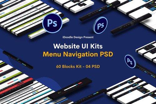 Website Menu Navigation UI Kits