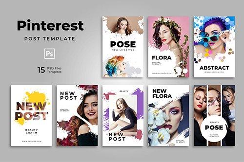 Urban Fashion Pinterest Templates PSD