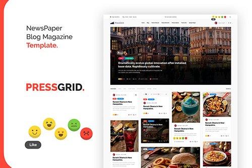 PressGrid Nice Newspaper Reaction Design Template