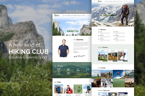 Hiking Club - Sports Activity and Agency Template