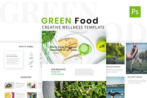 Green Food & Health Life Style Design Template