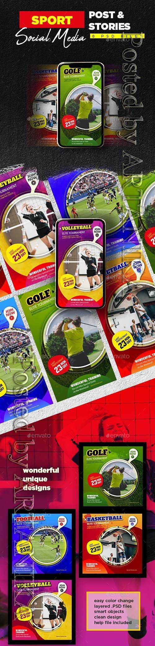 Sport Social Media Post & Stories 23970910