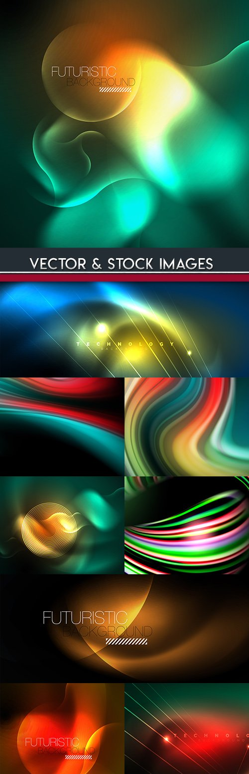 Light abstract technology effect bright background