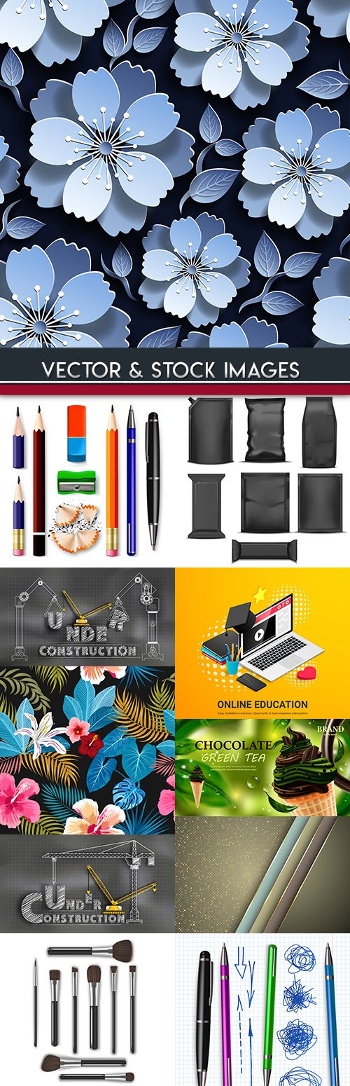 Collection vector illustrations on different subjects 43