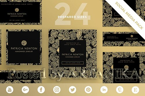 Handmade Jewelry Social Media Pack Template