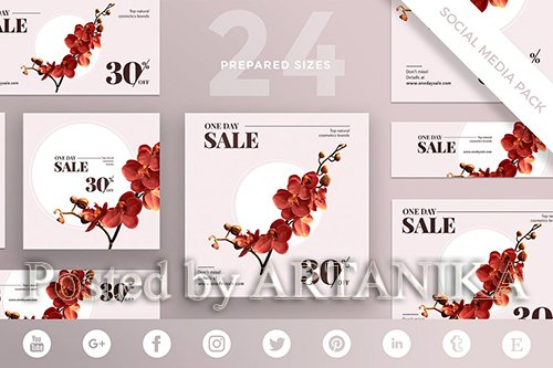 Cosmetics Sales Social Media Pack Template