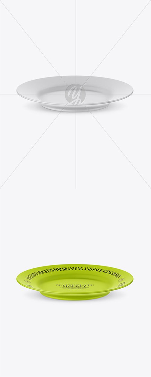 Matte Plate Mockup (High-Angle Shot) 25135 TIF