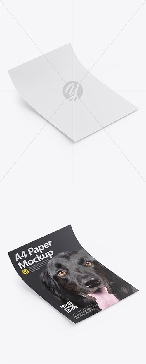 A4 Paper Mockup - Half Side View 33979 TIF