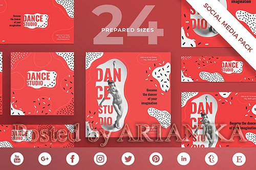 Dance Studio Social Media Pack Template