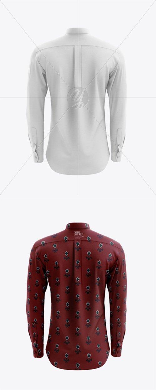 Men's Shirt mockup (Back View) 23584 TIF